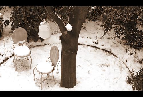 Shabby snow