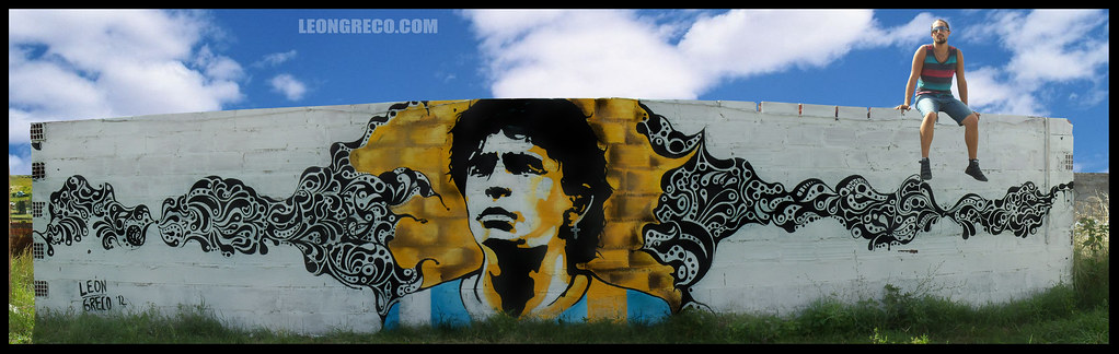 Wall Of Maradona Maradona Mural By Leon Greco Wall Of Mar Flickr