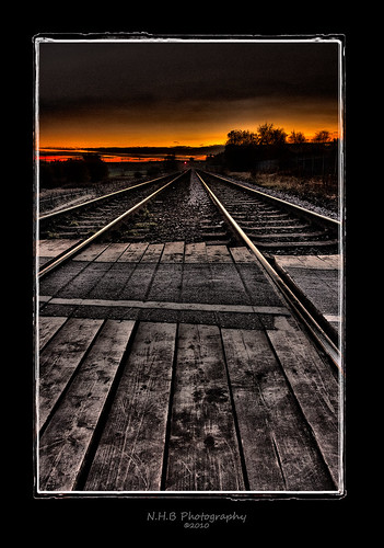 uk november autumn trees sunset sky fall lines train photoshop canon crossing tracks explore westyorkshire featherstone sleepers autofocus 17mm nhb handhelp photomatix efs1785mm explored 40d viveza canon40d photoframepro nikssilverefex dblringexcellence nhbphotography nikssilverefexs