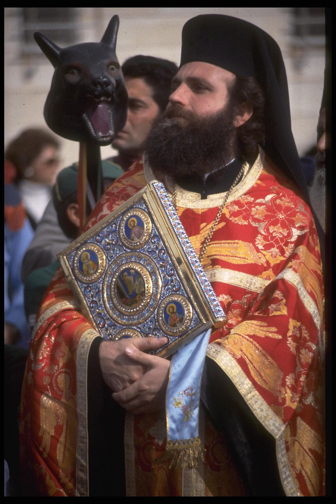 Greek Orthodox Christmas.A Greek Orthodox Priest During Christmas In Bethlehem Flickr