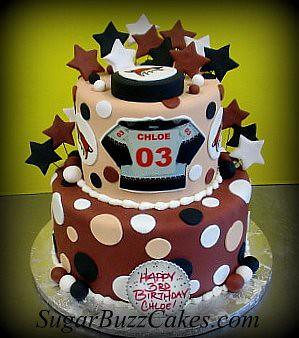 Terrific Phoenix Coyotes Hockey Birthday Cake Carol Flickr Personalised Birthday Cards Paralily Jamesorg