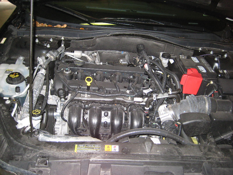 2010-2012 ford fusion 2 5l duratec 25 i4 engine - oil change & filter