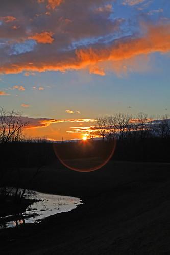 sunset lensflare dike chicopeeriver blinkagain
