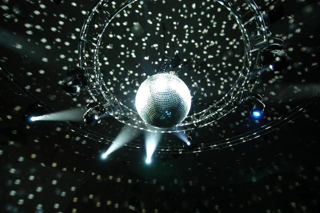 Disco Ball set up