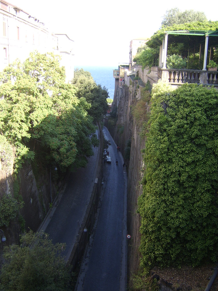 The street from port to downtown sorrento italy r g for B b italia online