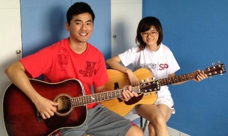 1 to 1 guitar lessons Singapore Sok Shan
