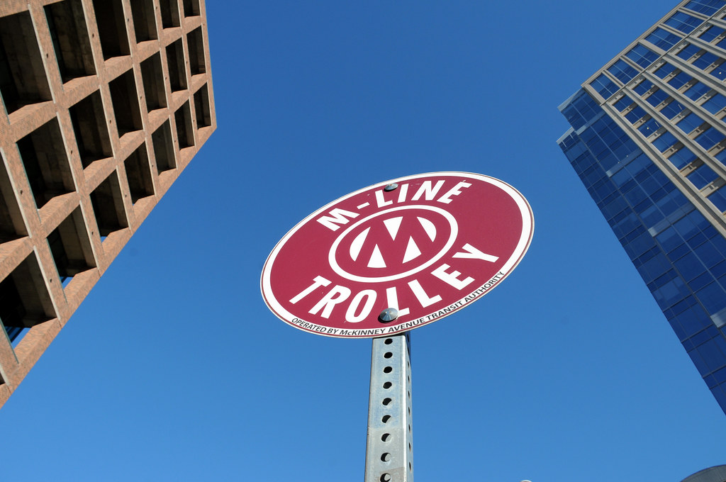 M-Line Trolley Sign Red Round McKinney Avenue Trolley Dall… | Flickr
