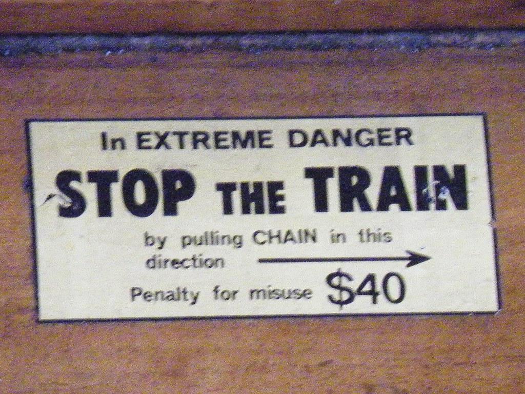 Old Railway warrning sign by denmac25