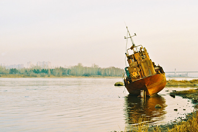 Retired (On Angara river in Irkutsk)