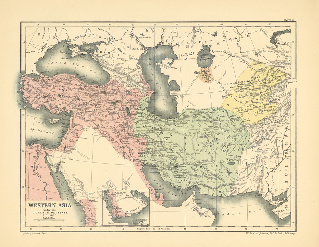 Map Of Modern Asia.Map Page Of On Lxxxi Western Asia Under The Turks And Pers Flickr