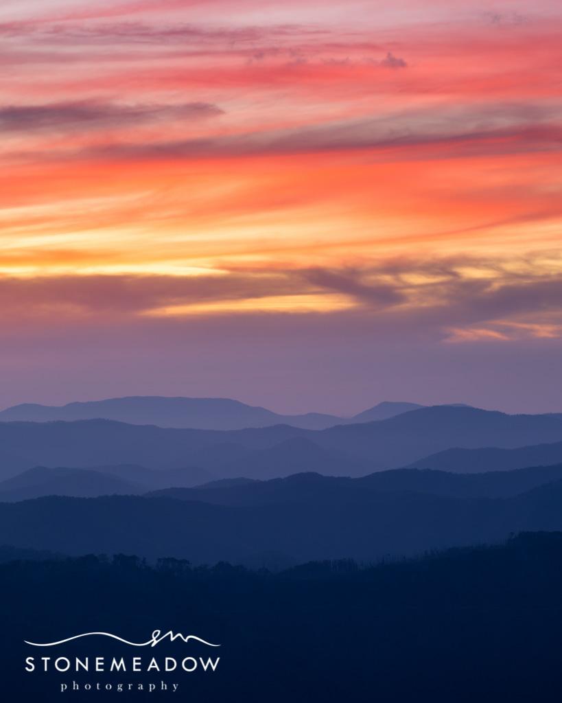 Sunset Hills 3 Orange Sunset Sky With Clouds Mountain Ran
