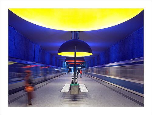 Subway station Westfriedhof I, Muncih - by stonepix de