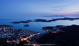 Aerial view of Hvar at dusk. Island of Hvar, Croatia | by Branimir Gjetvaj