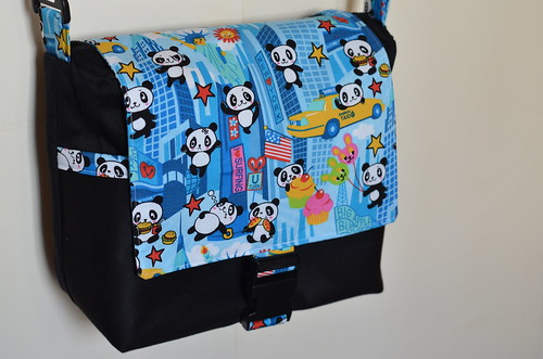Panda In New York messenger bag | by photographerpandora
