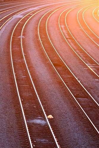 atlanta orange reflection train sunrise canon ga project georgia aj photo steel empty tracks 365 curve planks freight trainyard csx photoproject freightyard brustein 366 tilford 50d threesixfive threesixsix