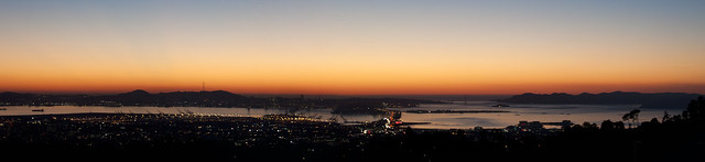 Sunset over San Francisco (Panoramic)