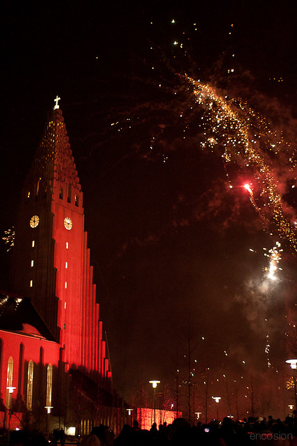 Reykjavik Cathedral (New Year's Eve)