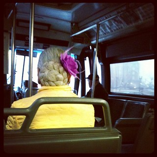 A bright spot on a grey morning. #commuting | by Jenblossom