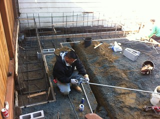 Digging trenches for 240v heater electrical | by johnclarkemills
