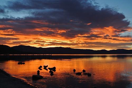 california sunrise laketahoe