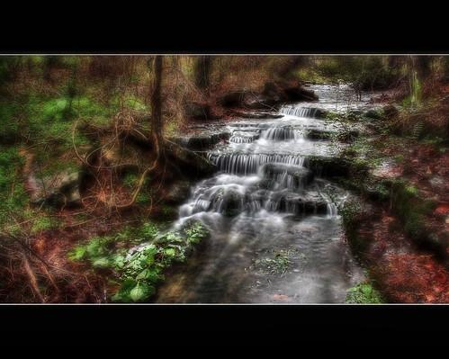 water creek waterfall arkansas hdr canon60d