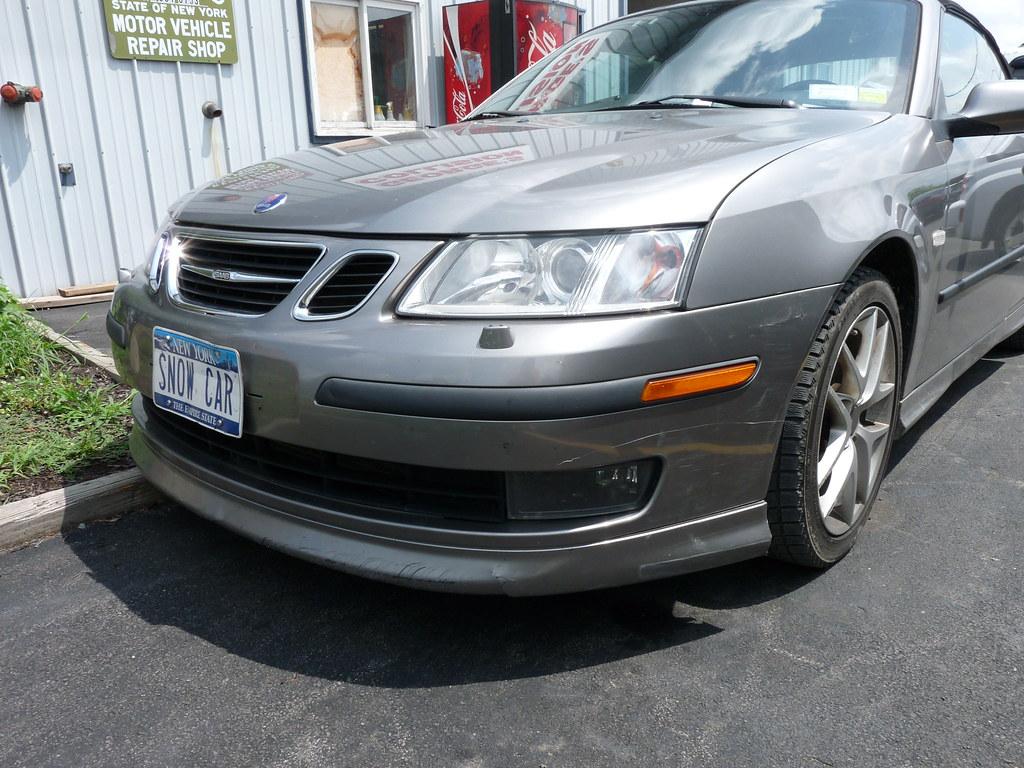 Dinged up Saab