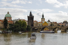 Vltava River and Charles Bridge