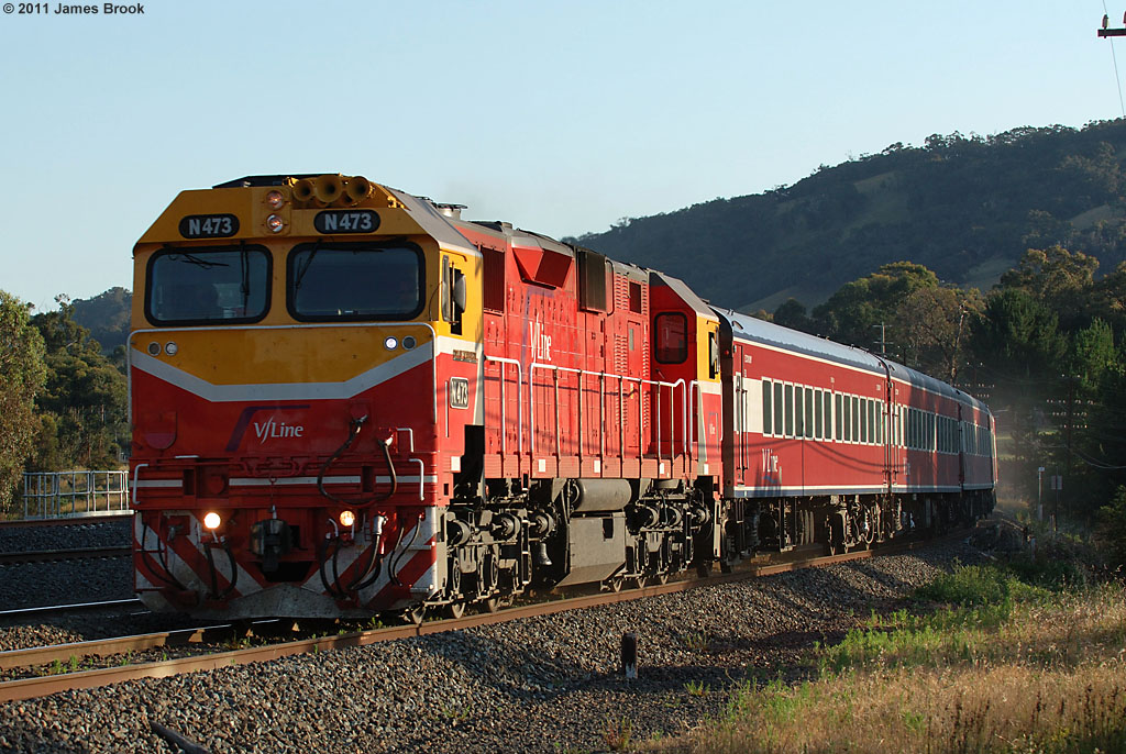 N473 with 8333 at Kilmore East by James Brook