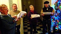 Carol Singing at Princes Park Mansions, 2011 (1)