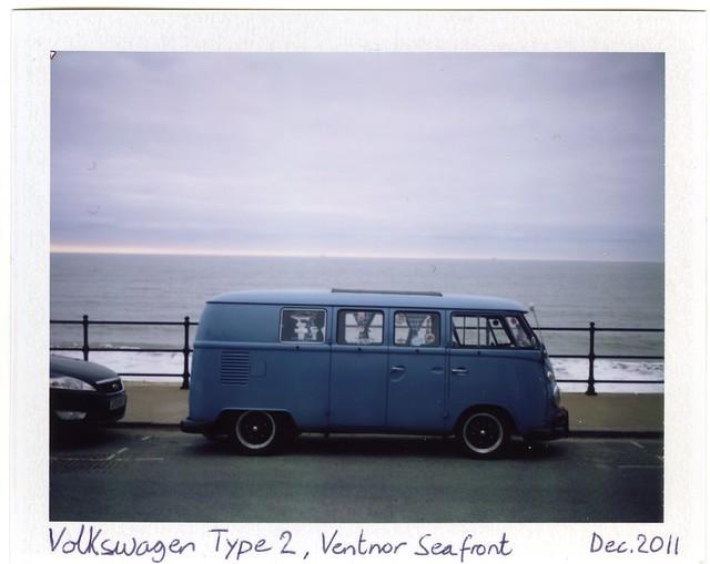 Volkswagen Type 2, Ventnor Seafront  (Fujifilm FP-100C + Polaroid 340)