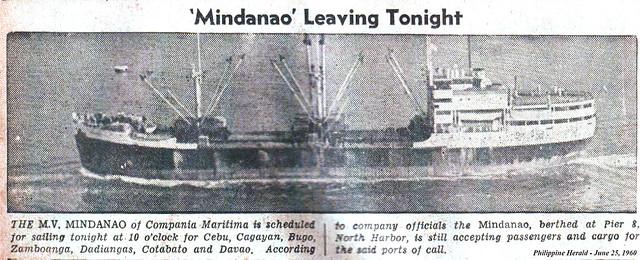 1960 0625 MV Mindanao