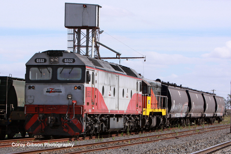 G532 & T342 in the Maroona yard by Corey Gibson
