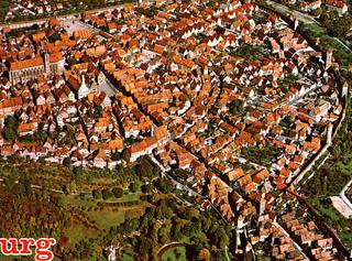 Rothenburg from Air (Postcard - Detail)