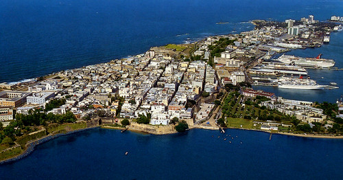 San Juan - Old San Juan from Air (Postcard) | by roger4336