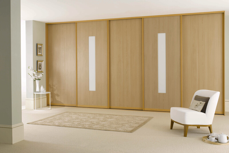 the latest 325e0 a244a fitted sliding wardrobe doors beech wood white glass bedro ...