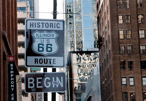 Beginning of Route 66