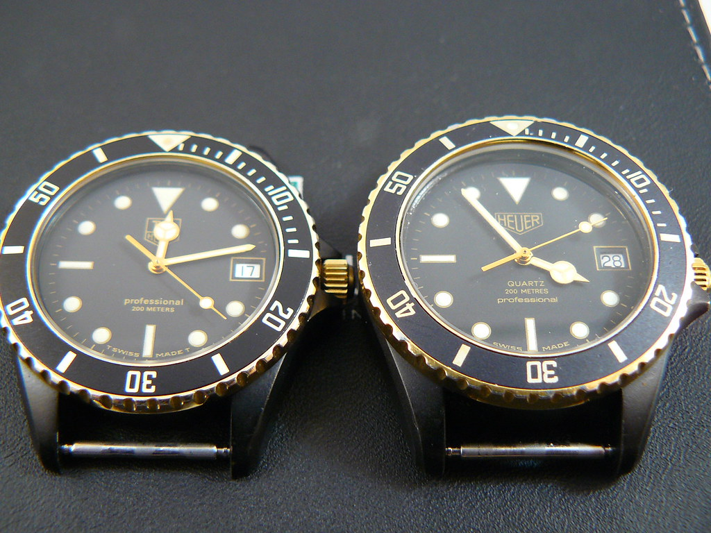 check out dd18a 8d611 Heuer vs Tag Heuer 1000