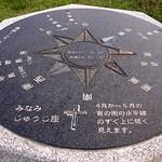 Cardinal direction(方位盤) 宮古島では、南十字星が見えます。