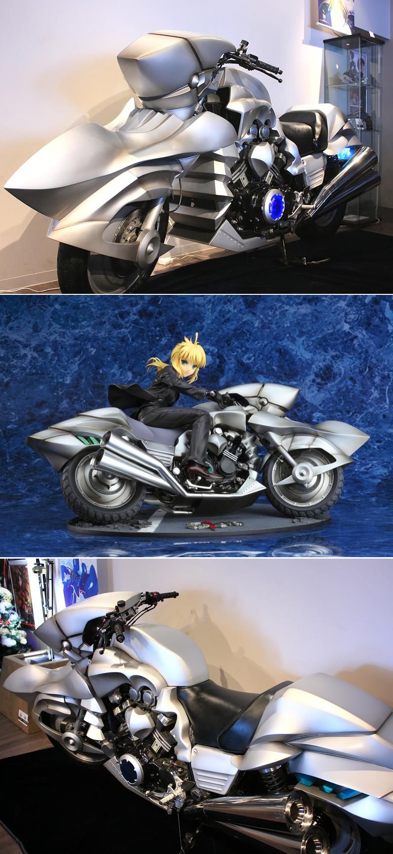 111217(2) - 精心打造《Fate/zero》原比例セイバー專用機車展示中、痛窗簾『カーテン魂コレクション01 ~你推特 我抽獎』活動進行中!