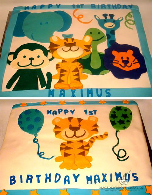Animal Party Theme Cake
