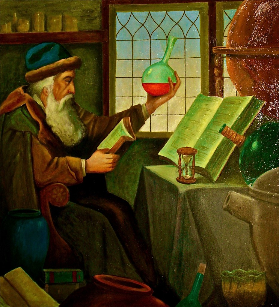 Image result for medieval alchemist painting