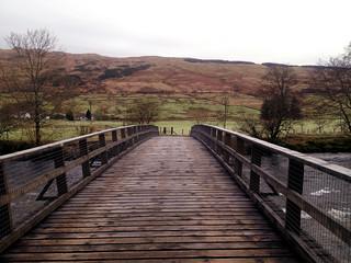Across the bridge to Kirkton Farm   by Rossco Mac 7