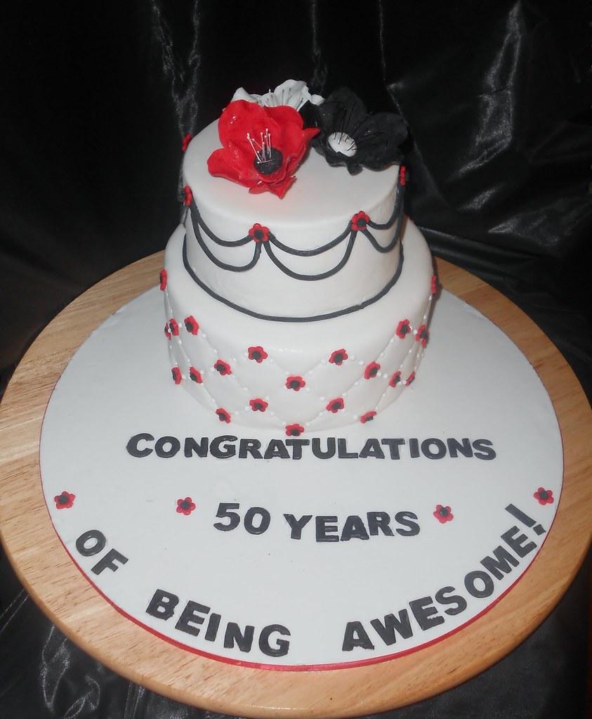Remarkable 50Th Birthday Cake I Had To Make My Own Birthday Cake M Flickr Funny Birthday Cards Online Inifodamsfinfo