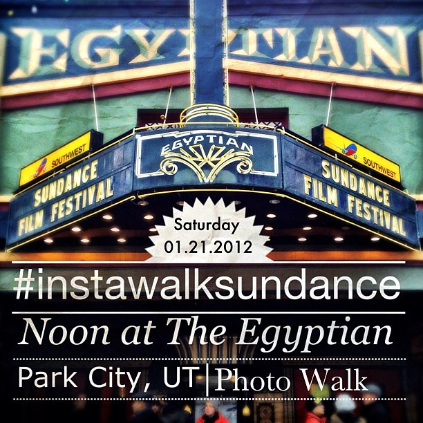 Last minute, but I'm doing an #instawalk at Sundance Saturday afternoon. We'll meet at noon in front of The Egyptian Theater and walk Mainstreet for an hour. We'll be tagging the photos #instawalksundance.