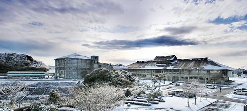 morning winter panorama cloud snow ice japan sunrise snowman chiba slippery hugin katsuura パノラマ 日本 千葉 勝浦 房総半島 房総 半島 冬 雪 日の出 朝 曇 氷 キレイ 雪だるま