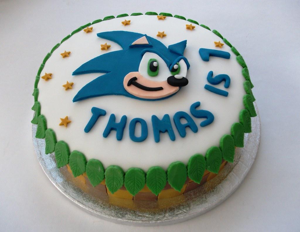 Outstanding Sonic The Hedgehog Cake A Chocolate Birthday Cake Inspired Flickr Personalised Birthday Cards Veneteletsinfo