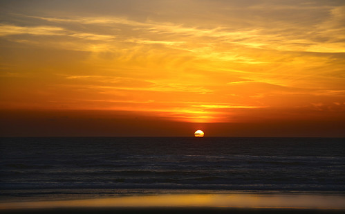 ocean sunset oregon pacific rockaway