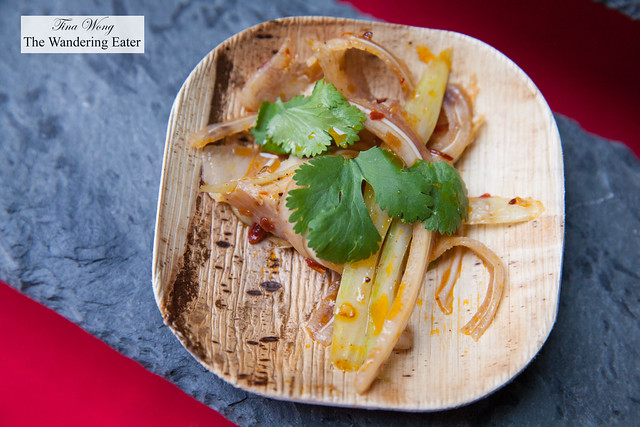 Spicy lemongrass pig ear, celery and cilantro by Bricolage
