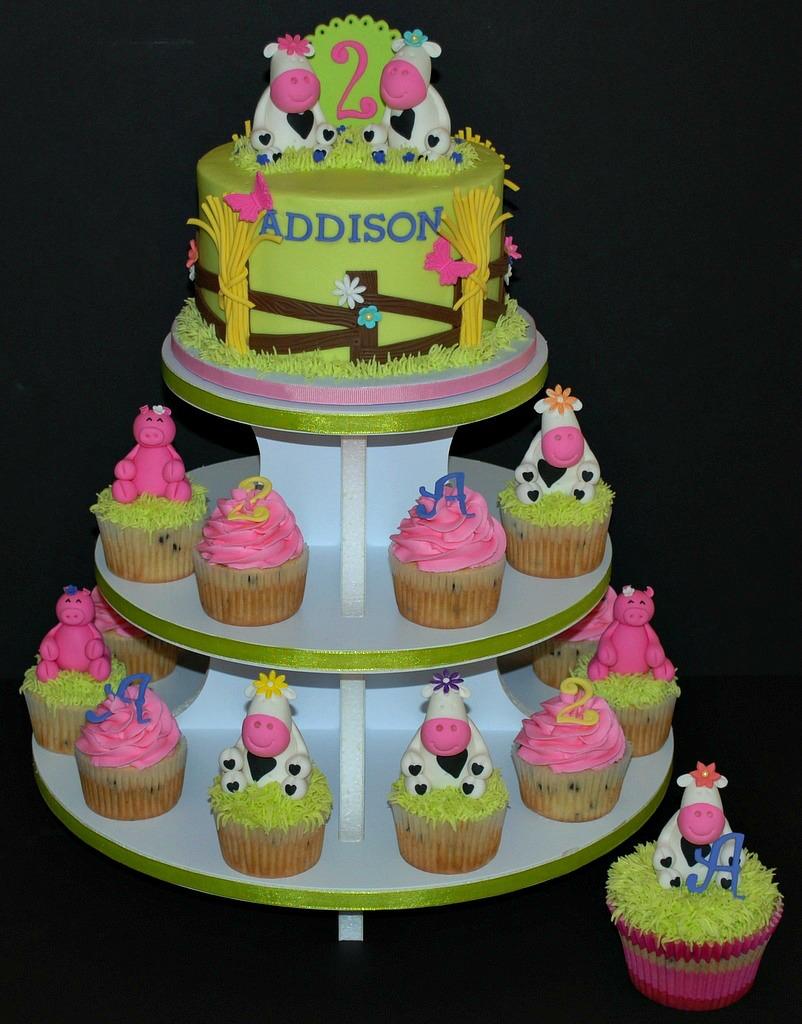 Pleasant Farm Birthday Cake Cupcake Tower My First Cake Cupcake T Flickr Funny Birthday Cards Online Unhofree Goldxyz