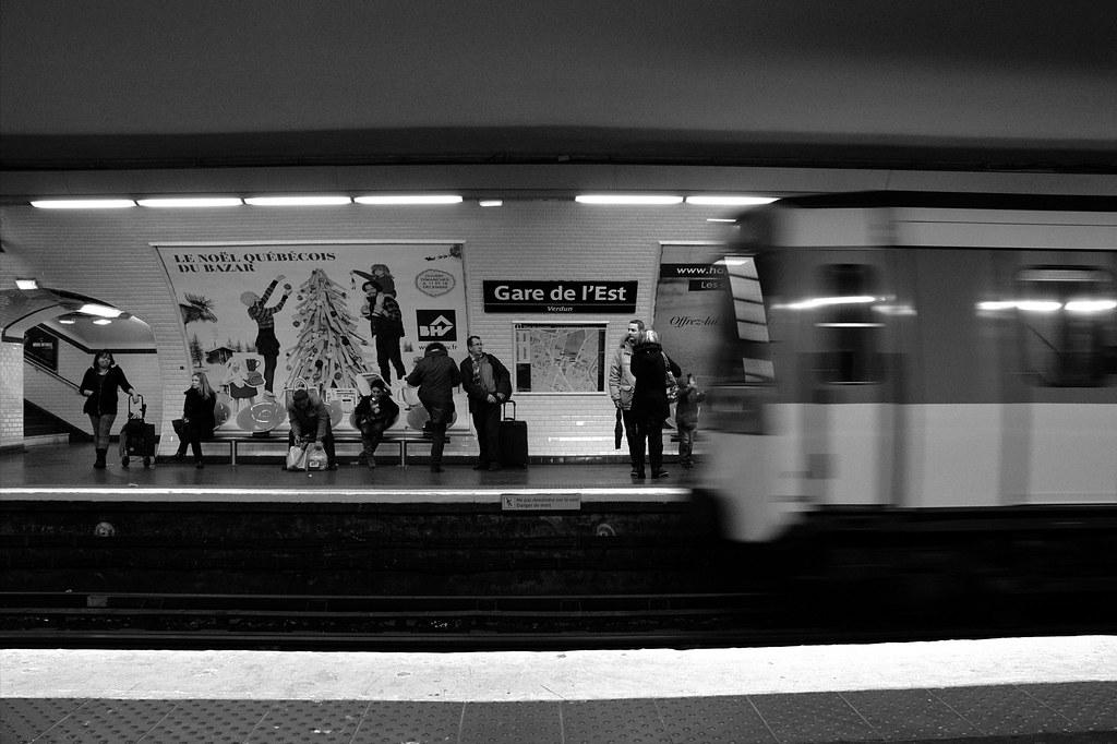 Arrivée du métro